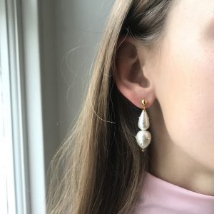 Lana Crystal Embellished Imitation Pearl Earrings