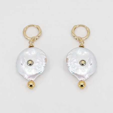 Lana Flat Pearl Earrings