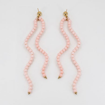 Baby pink Ariel Double Wave Earrings