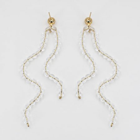 Transparent Ariel Double Wave Earrings