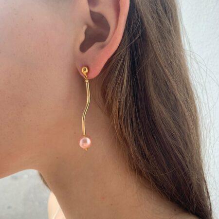 Ariel Metal Zigzag Earrings