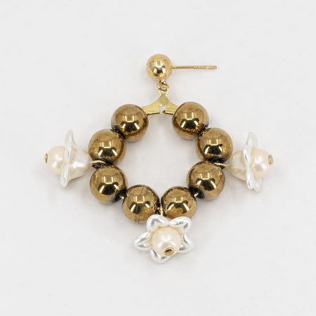 Cott Flower Ring Earrings