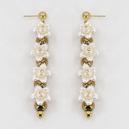 Cott Flower Row Earrings