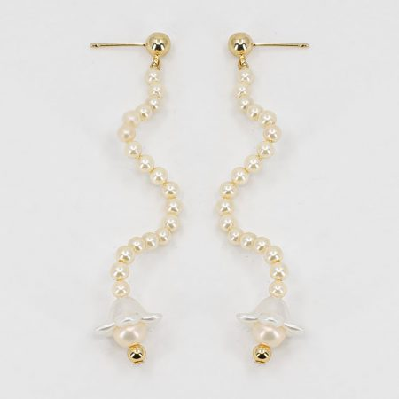 Cott Flower Wave Earrings