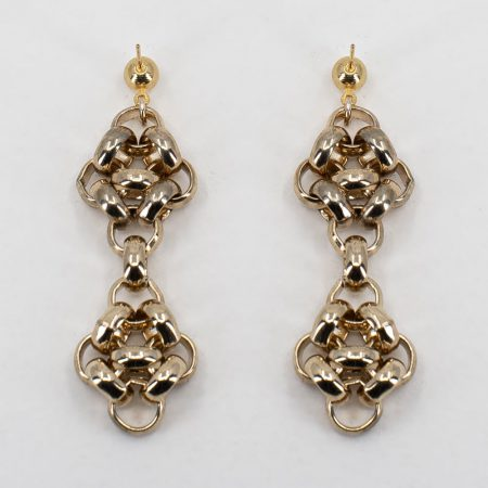 Knit-Chain Double Earrings