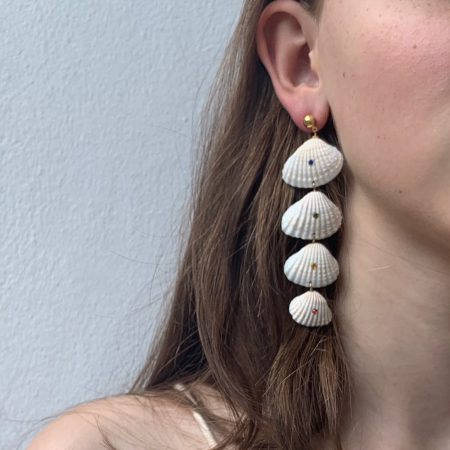 Shellfie Quatre Turquoise Dot Earrings