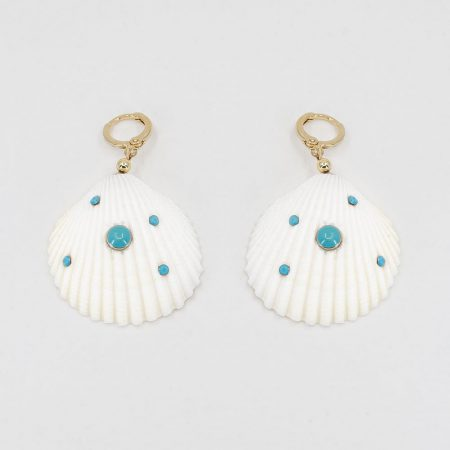 Shellfie Turquoise Earrings