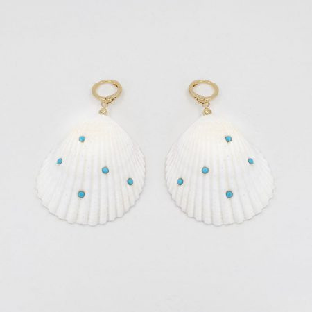 Shellfie Turquoise Dot  Earrings