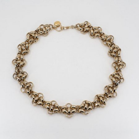 Knit-Chain Complex Necklace