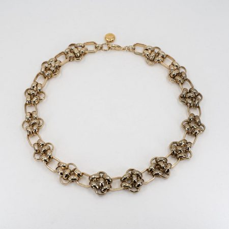 Knit-Chain Thick Knot Necklace