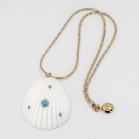 Shellfie Turquoise Necklace