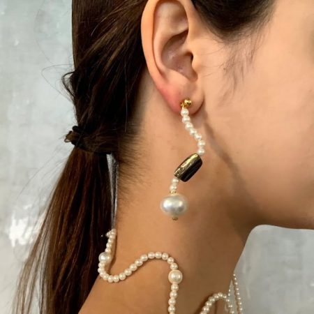 Ariel Bubble Curve Earring