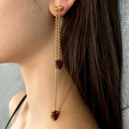 Ariel Heart Drop Earrings