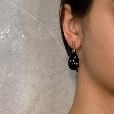 Bless Black Pearl Earrings