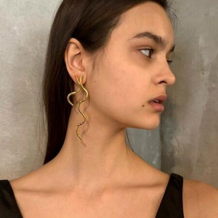 Fleurit Bud Earrings Gold