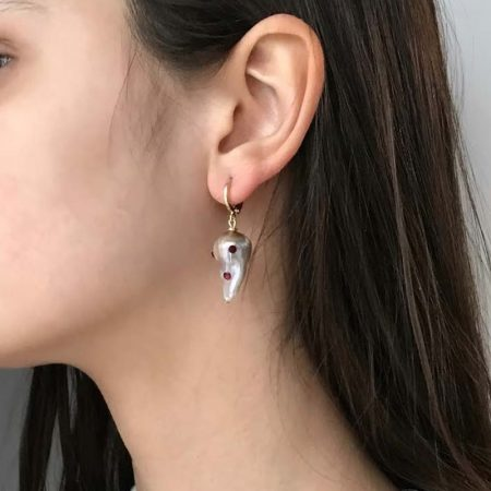 Lana Spotty Ruby Earrings