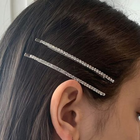 SCHO cheer Long Hairslides Silver
