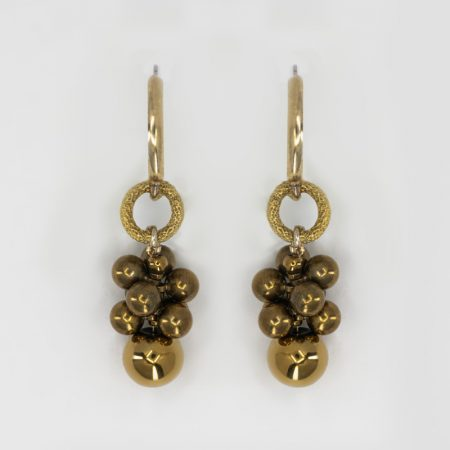 Bee Fuzz Ring Drop Earrings