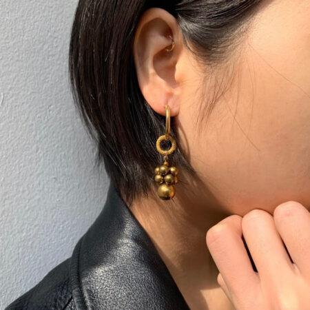 Bee Fuzz Ring Drop Earrings