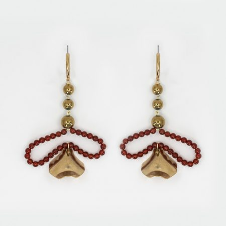 Bee Matisse Red Lux Earrings