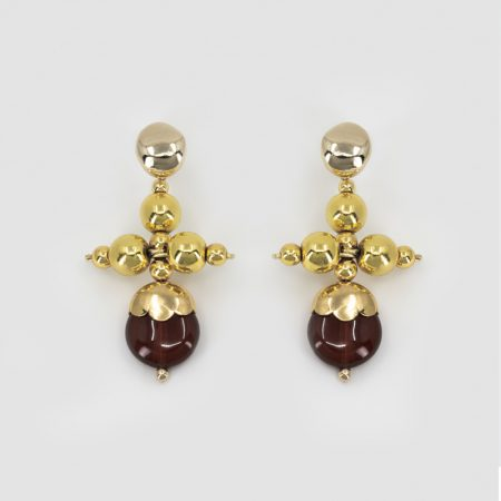 Donna Rooi Cross Earrings
