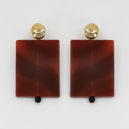 Donna Rooi Plate Earrings
