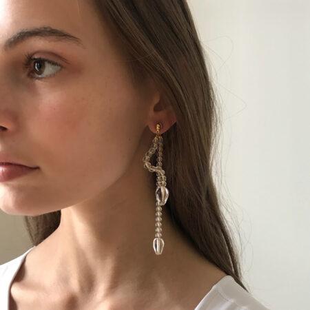 Ariel Clear Straight Earrings