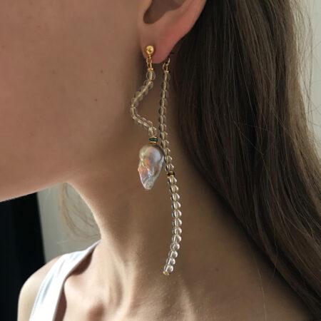 Ariel Clear Wave Earrings