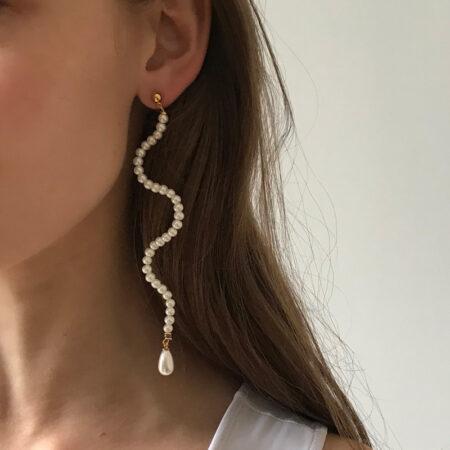 Ariel Wave Long Earrings