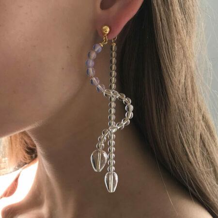 Ariel Milk Pink Long Earrings