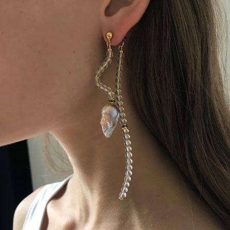 Ariel Lana Violet Pearl Earrings