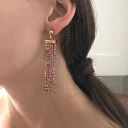 Bombshell Pink Small Earrings