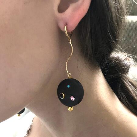 Eve Ebony Small Earrings