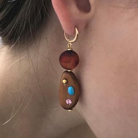 Eve Jasper Stone Earrings