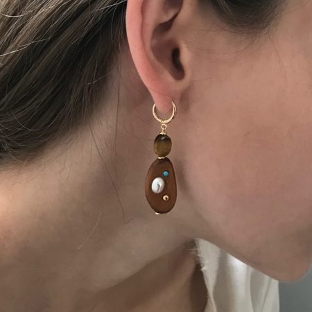 Eve Tiger Eye Earrings