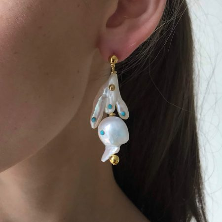 Lana Three Way Pearl Earrings