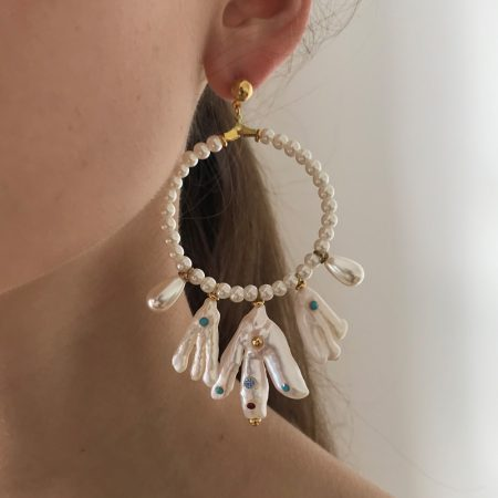 Lana Ultra Pearl Ring Earrings