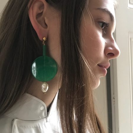 Maggie Grand Round Earrings