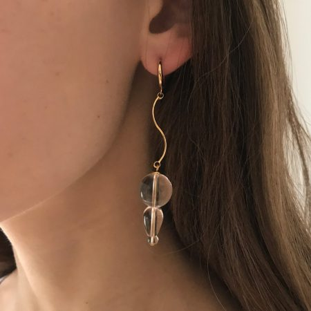 Reve Bubble Wave Short Earrings
