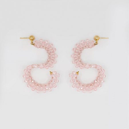 Ariel Twilight Pink Crystal Earrings