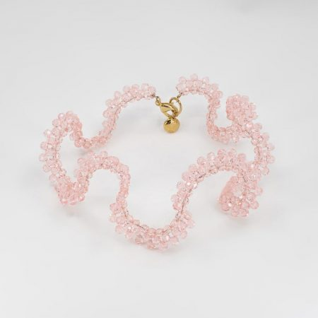 Ariel Twilight Pink Crystal Necklace