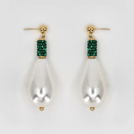 Donna Drop Malachite Earrings