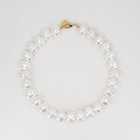 Donna Full Egg Pearl Necklace
