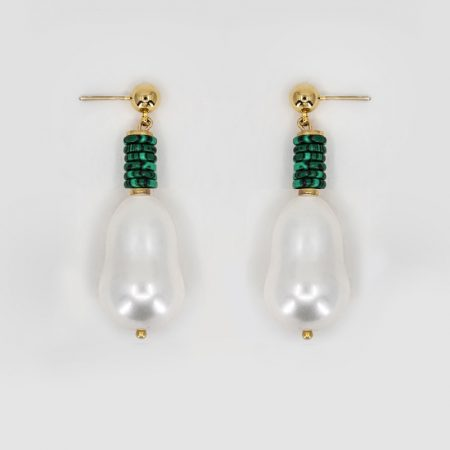 Lana Bell Malachite Earrings