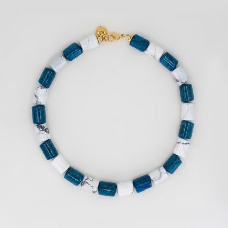 Lana Blue Marble Necklace