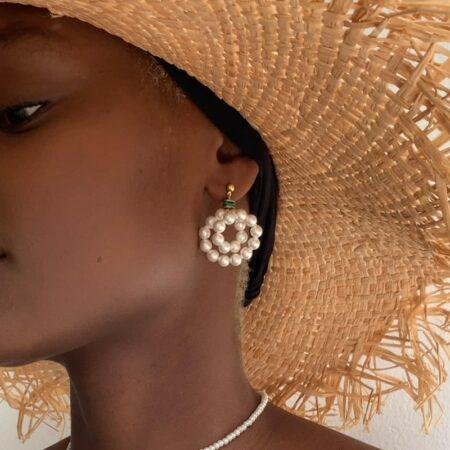Donna Coile Malachite Earrings