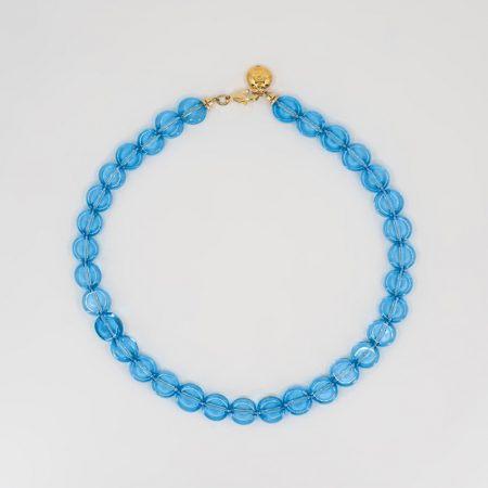 Reve Flat Necklace Blue