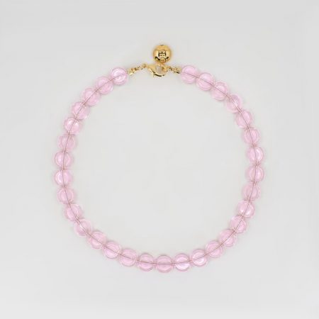 Reve Flat Necklace Pink