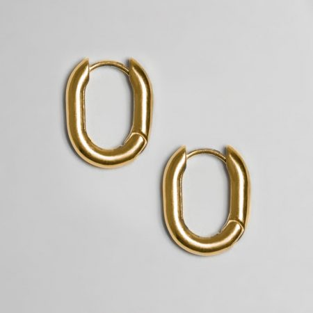 Classic Oval Earrings Gold