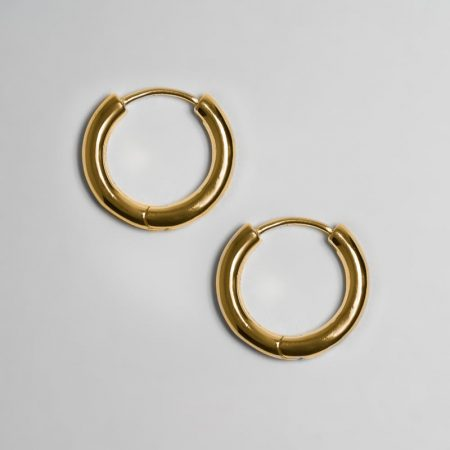 Classic Ring Big Earrings Gold